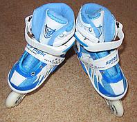 Ролики р. 31-34 голубые в пластиковой сумке