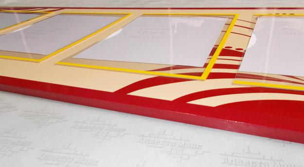 Стенд настінний обьємний. Виготовленний із матеріала пластика ПВХ товщиною 4 мм.