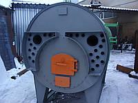 Парогенератор твердотоп.горизонт.ж/труб. 100Е,12 бар (уголь,дрова),автоматика, дымосос и комплект