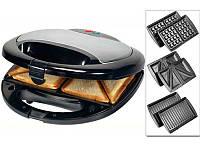 Вафельница, сэндвичница и гриль Livstar LSU-1220: 750 Вт, 2 индикатора, пластины 13х22 см