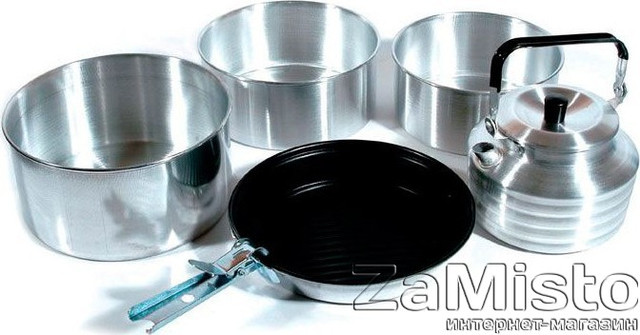 Набор посуды KingCamp CAMPER 4 KP3903 (Silver)