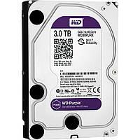 Жесткий диск 3.5' 3Tb Western Digital Purple, SATA3, 64Mb, IntelliPower (WD30PURX) для систем наблюдения с уникальной технологией AllFrame