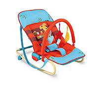 Детское Кресло качалка Milly Mally Maxi puppy шезлонг  дуга с  игрушками оранжевый Польша