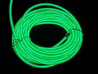 Неоновій провод 2-го поколения 2.2мм— зеленый (розница, опт)