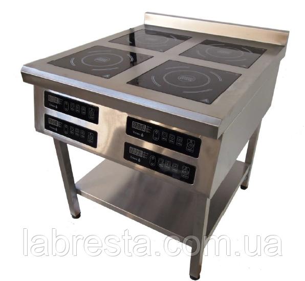 Плита индукционная Tehma 4 х 3,5 кВт на 4 конфорки напольная (800х800 мм)