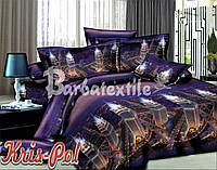 Комплект постельного белья полиэстер ТМ KRIS-POL (Украина) двуспальный 53858009