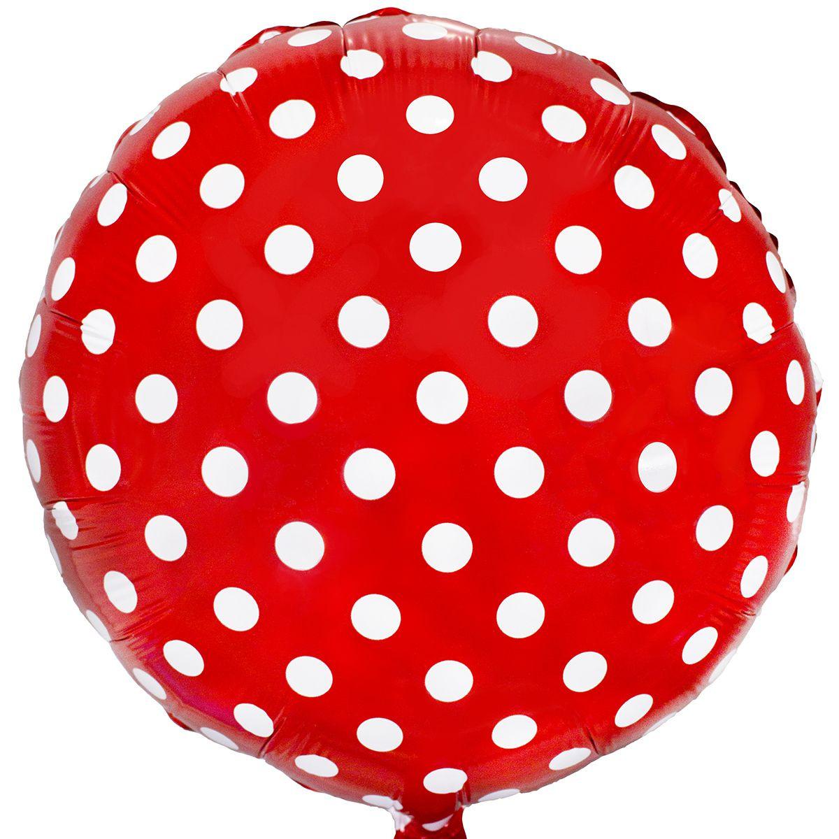 1202-2168 Фольгированный шар в горошек 44 см