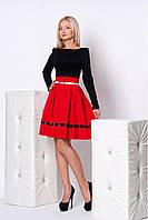 Комбинированные платья из двух цветов