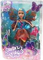 Волшебная фея-бабочка Funville Sparkle girlz в бирюзово-оранжевом платье (FV24389-4)