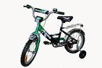 """Детский велосипед  Марс 16 """"ручной тормоз + эксцентрик (зеленый / черный)"""