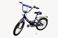 """Детский велосипед Марс 16 """"ручной тормоз + эксцентрик (синий / черный)"""