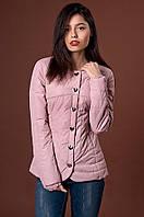 Курточка с круглым вырезом горловины