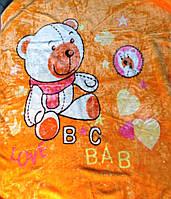 Детский флисовый плед Мишка (оранж)