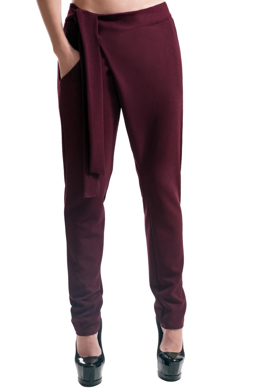 """Женские стильные брюки """"Вашингтон"""" бордовый"""