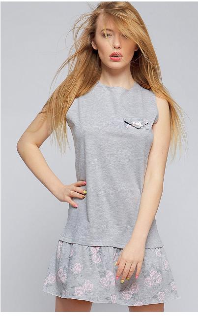 Ночная сорочка из хлопка Sensis Scarlet