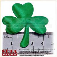 Декоративный зеленый листик клевера на прокат, Трилистник на булавке на день Святого Патрика
