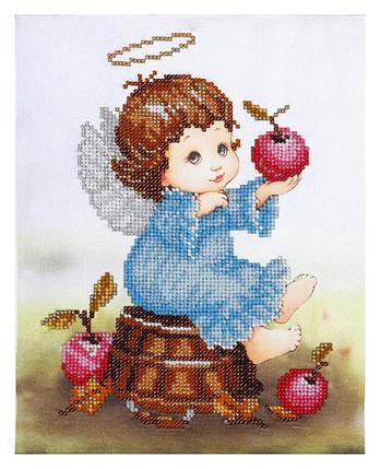 """Набор для вышивания бисером """"Ангелочек с яблоками"""", фото 2"""