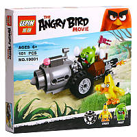 "Конструктор Lepin Angry Birds 19001 ""Побег на автомобиле свинок"" 101 деталь"