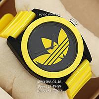 Часы Adidas Log  желтый/ черный (реплика)