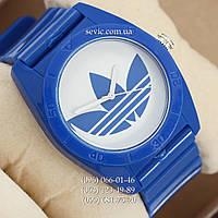 Часы Adidas Log  синий/ белый (реплика)