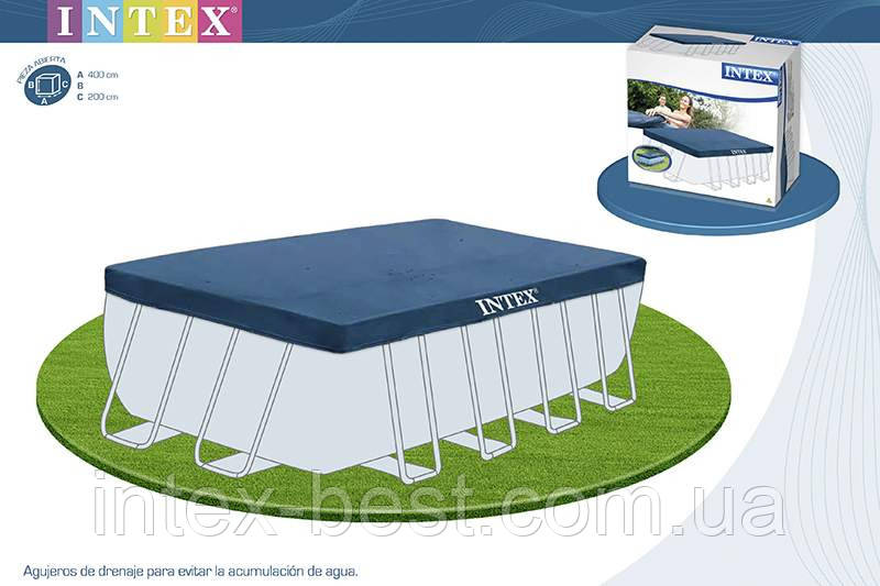 Intex 28037 - тент для каркасного бассейна Rectangular Ultra Frame 400x200 см