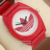 Часы Adidas Log  красный/ белый