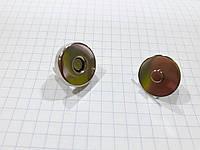 Кнопка магнитная A7375 никель 18 мм