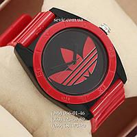 Часы Adidas Log  красный/ черный