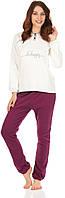 Комплект одежды жен. DESIRE крем/фиолет. L