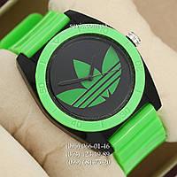 Часы Adidas Log  зеленый/ черный