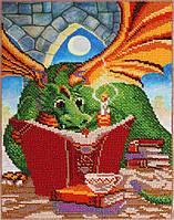 """Набор для вышивания бисером """"Дракончик с книгой"""""""