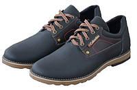 Мужские кожаные  туфли Columbia ,синие, качество