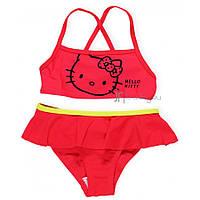 Купальник детский Hello Kitty (Хеллоу Китти) для девочки /красный/ размер 2-3 года 92-98 см