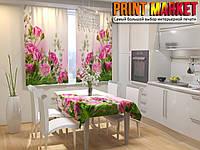Фотошторы для кухни розы