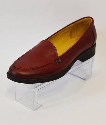 Женские бордовые туфли Premio 90, фото 2
