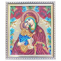 Икона Донская Богоматерь из бисера ручной работы