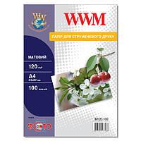 Фотобумага WWM Матовая 120г/м кв, А4, 100л (M120.100)