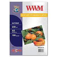 Фотобумага WWM Матовая 230г/м кв, А3, 100л (M230.A3.100)