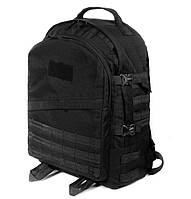 Тактический походный супер-крепкий рюкзак с органайзером 40л черный. Армия, спорт, туризм, рыбалка, охота