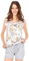 Комплект одежды жен. AMARANTO беж/серый L