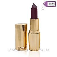 """Губная помада матовая """"Lipstick Exclusive Colour №27 благородный  бургунди (легкий перламутр) Ламбре/Lambre"""