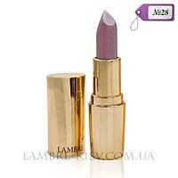 """Губная помада матовая """"Lipstick Exclusive Colour №28 классический нюд (без перламутра) Ламбре/Lambre"""