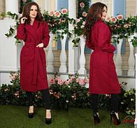 Женское длинное пальто кашемир ЭЛЕКТРИК БЕЖ