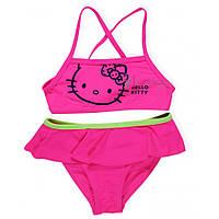 Купальник детский Hello Kitty (Хеллоу Китти) для девочки /ярко-розовый/ размер 2-3 года 92-98 см