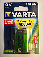 Крона VARTA аккумулятор PP3 HR9V NiMH 200mAh Ready to use, RECHARGEABLE Transistor