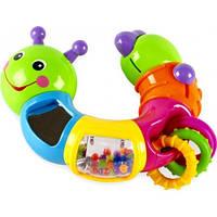 Веселая гусеница Limo Toy , подвижные детали, погремушка, трещотка, зеркало, в кор-ке!