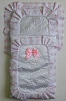 Конверт для выписки новорожденного розовый
