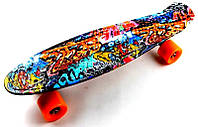 "Пенни Борд Penny Board ""Cool Draft 2"" Graffiti"