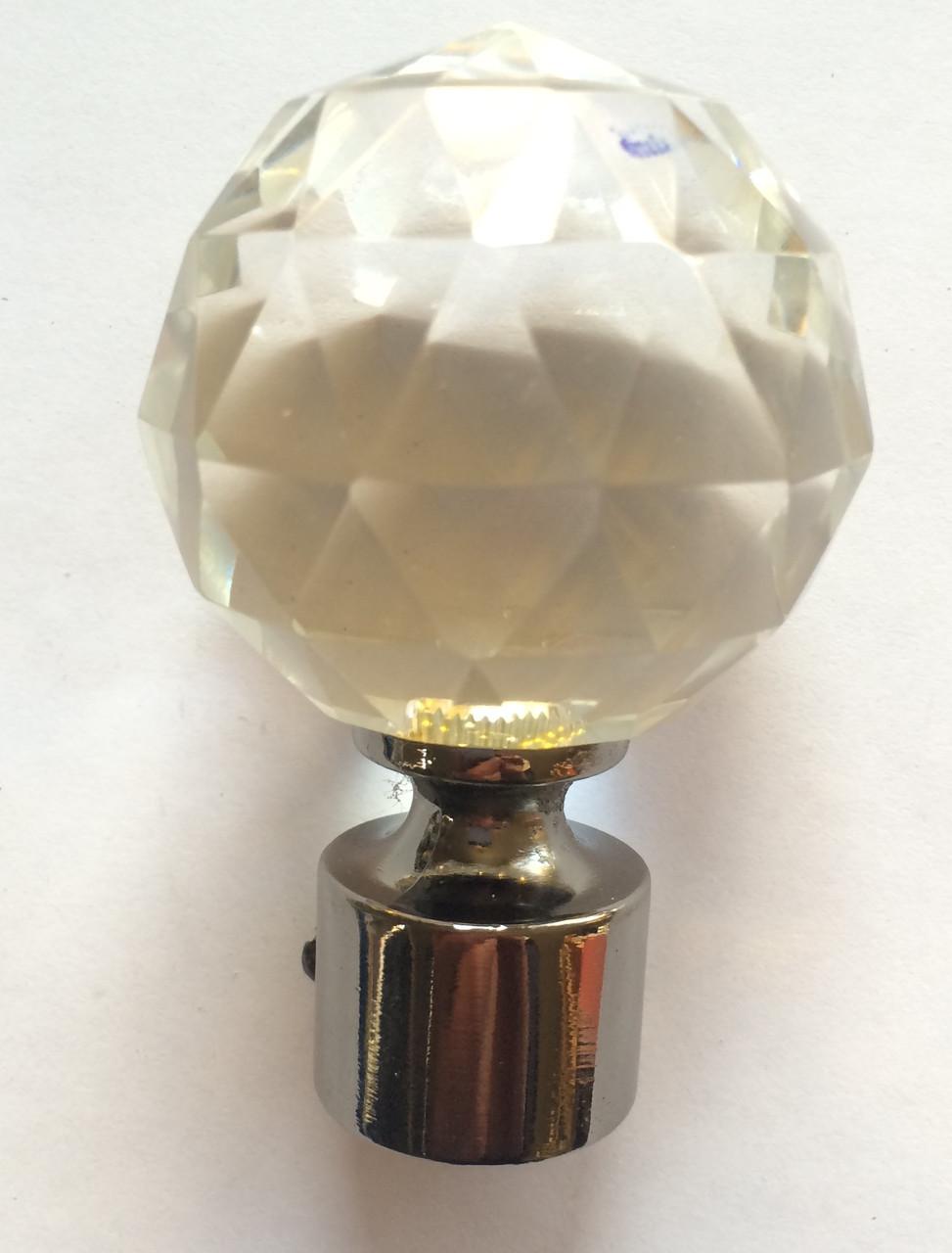 Кристал шар д.19мм графит