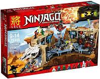 "Конструктор Lele 79348 Ninja (аналог Lego Ninjago 70596) ""Хаос в X-пещере Самураев"" 1303 детали"